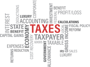 image of tax words
